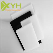 Hoja de acetal POM de plástico negro / blanco grueso de 20-200 mm