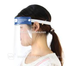 Escudo facial desechable para uso médico