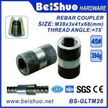 M28-L68mm Building Construction Rebar Coupler with Straight Screw Sleeve