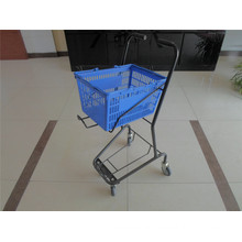 Plastic Shopping Rolling Basket Trolley