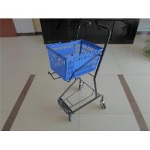 Plastic Shopping Rolling Basket Trolley