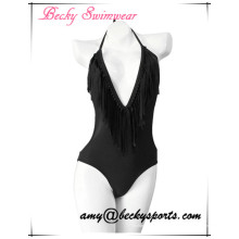 Swimwear de uma peça de Lady Sexy com estrutura V
