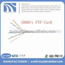 Cable del ft del cable del LAN de 1000FT 4pairs Cat6