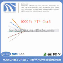 1000FT 4pairs Cat6 cabo do LAN cabo do ftp