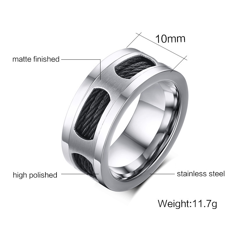 cable wedding band