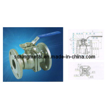 Válvula de esfera de aço inoxidável 2PC com esfera de montagem direta