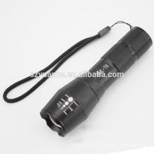 Zoomable XML-T6 светодиодный фонарик факел Zoom Лампа светлый черный MT