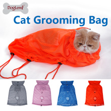 Top venda Cat Grooming Bath Bags Saco de malha equipado Cat Clean Pet bag