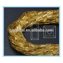 4 * 8mm vidro retângulo grânulos esferas de vidro para decorar