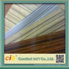 Película de PVC madeira textura da decoração