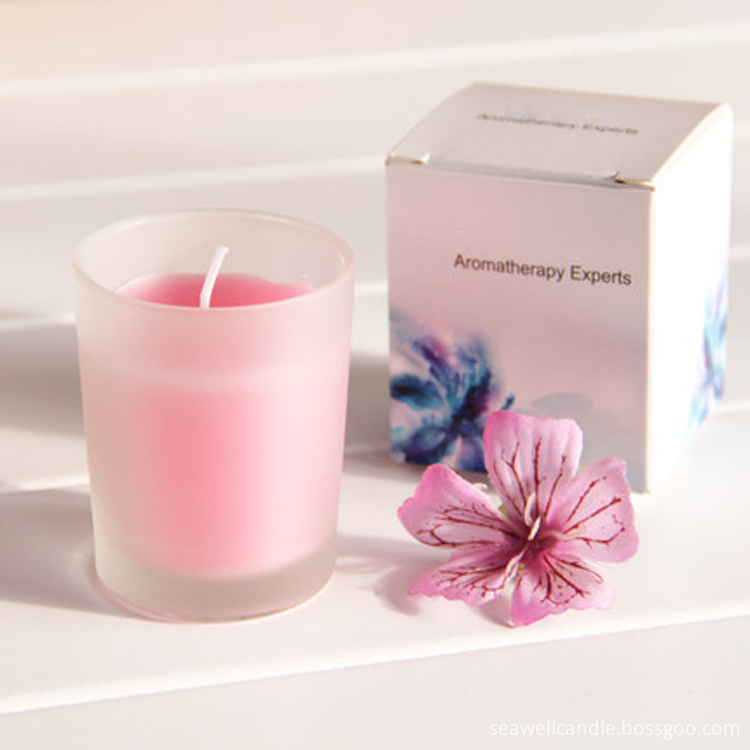 frosted glass jar candles  (4)