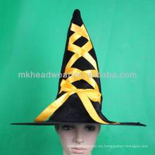Venta al por mayor baratos promocionales Halloween bruja sombreros para la fiesta de Halloween