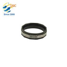 Handgemachte einfache Diamant Silber Farbe Edelstahl-Ring-Designs