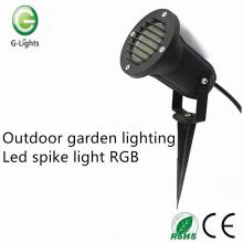 Outdoor garden lighting led spike light RGB