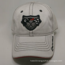 100% cotton embroidery badge white baseball cap