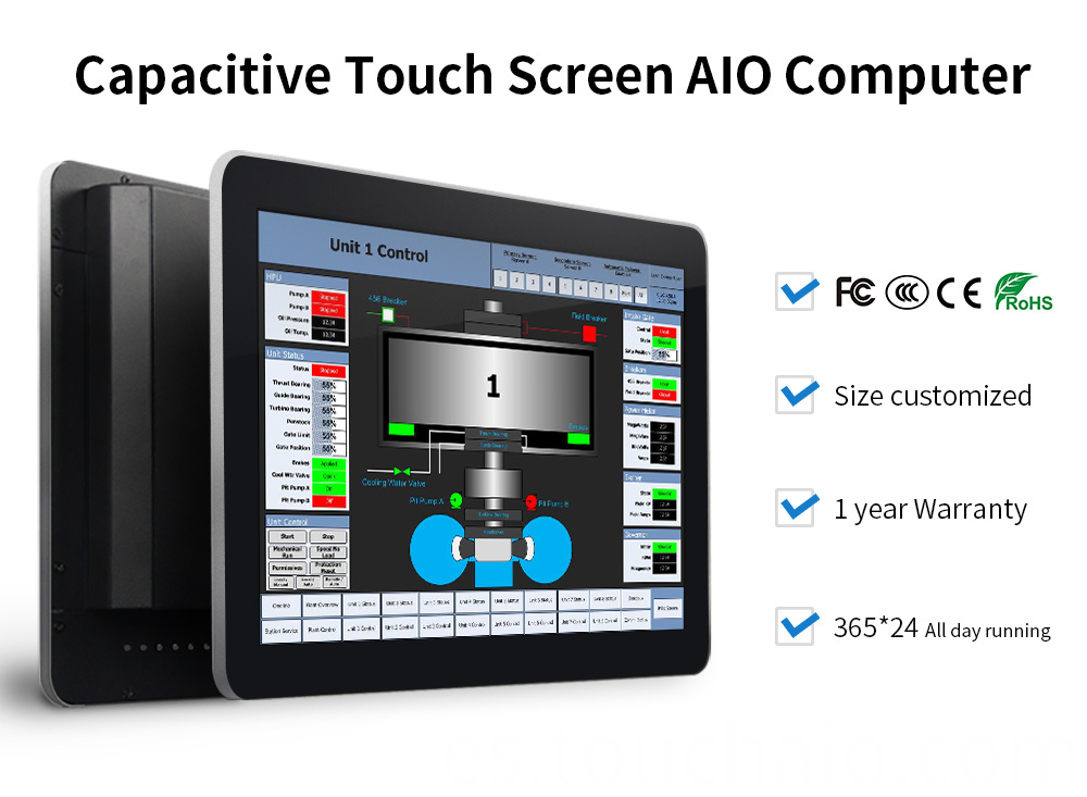 10 in touch screen computer monitor