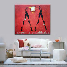 Canvas Abstract People Painting