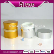 wholesale cosmetic creams packaging ,7g 15g 30g 50g silver aluminum cosmetic jars for skin care cream