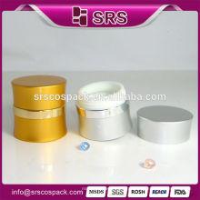 Creme cosméticos atacado embalagens, 7g 15g 30g 50g prata alumínio frascos cosméticos para creme de cuidados da pele