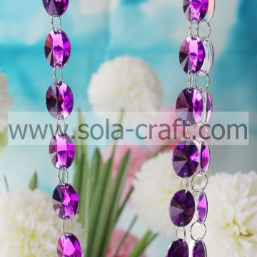 Purple Color Acrylic Diamond Bead Garland Christmas Tree Decor