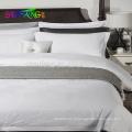 2018 hôtel linge / En Gros personnalisé plaine blanc reine taille linge de lit ensemble 100% coton hôtel literie