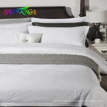Hotelwäsche 2018 / Großhandelsgewohnheit schlichte weiße Königingrößen-Bettwäsche stellte 100% Baumwollhotelbettwäsche ein