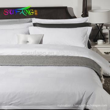 2018 hotel linen/Wholesale custom plain white queen size bed linen set 100% cotton hotel bedding