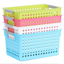 Plastic Rectangle Storage Box Basket Holder Organizer
