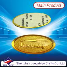 Etiqueta engomada metalizada aduana de la nueva etiqueta engomada en relieve del logotipo de la moda de la moda
