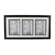 Negro con marco de línea de oro para la decoración del hogar