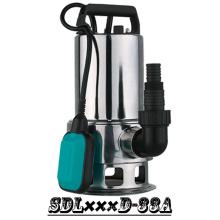 (SDL400D-33A) Melhor qualidade aço inoxidável eixo jardim de água suja bomba submersível com interruptor de boia