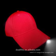 100% coton avec trois chapeaux de baseball léger en Chine