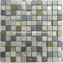 Stone Mosaic Mix Crystal Glass Mosaic Tile (HGM225)