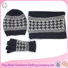Wholesale fashion style fleece hat scarf set