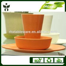 Bamboo Fiber Dinnerware устанавливает компостируемую посуду