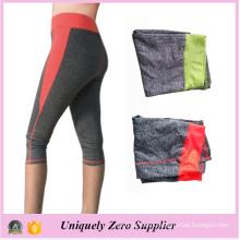 2016 Latest Design Polyester Women Body Building Tight Capri Yoga Pant