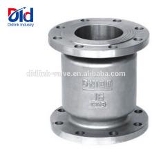 Símbolo Dirección de flujo Válvula de retención de aguas residuales vertical de acero inoxidable 316 oscilación de 1 pulgada Tipo silencioso