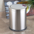 Round Stainless Steel 12L Push Dust Bin (F-12LB)