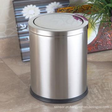 Caixote de poeira de empacotamento de aço inoxidável redonda em aço inoxidável (F-12LB)