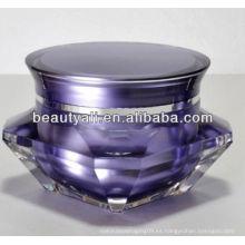 Diamond Cosmetic Lujosa jarra de acrílico