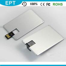 Пользовательские логотип Красочная металлическая кредитная карта формы USB Pendrive (EP025)
