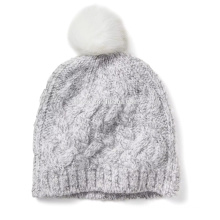 PK17ST021 Alpaca Blend Pom-Pom Cable Hat wholesale price