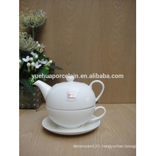 new style porcelain tea pot for one set with cup and saucer
