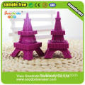 Изысканная Франция Red Eiffel Iron Tower Shaped Eraser