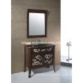 Gabinete de baño de madera sólida antiguo (1803)