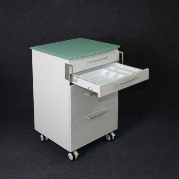 Armoire mobile pour chariot d'hôpital