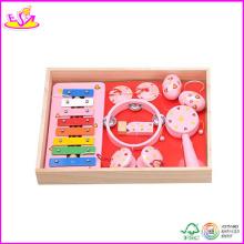 2014 neue Holzspielzeug Kinder Musik Set, lernen Klavier Musikinstrument Set und heißer Verkauf Lernspielzeug für Baby W07A052