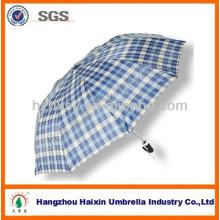 Tamaño grande tela poliester barato 2 paraguas plegable para Birmania