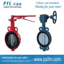GOST estándar de línea central de hierro fundido gusano impulsado tipo de agua válvula de mariposa China proveedor