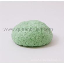 Esponja Konjac seca de forma de bola media para el cuidado facial